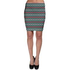 Ethnic Geometric Pattern Bodycon Skirt by linceazul