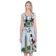 Great Dane Midi Sleeveless Dress