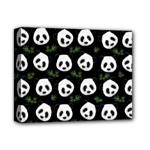 Panda Pattern Deluxe Canvas 14  X 11  by Valentinaart