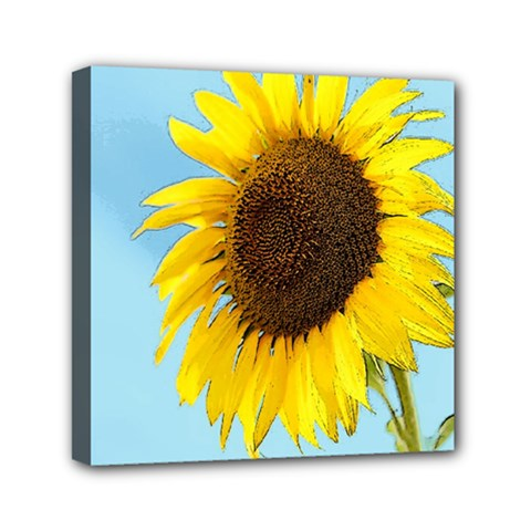 Sunflower Mini Canvas 6  X 6  by Valentinaart