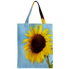 Sunflower Zipper Classic Tote Bag by Valentinaart
