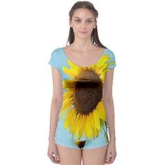 Sunflower Boyleg Leotard  by Valentinaart