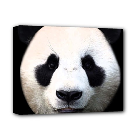 Panda Face Deluxe Canvas 14  X 11  by Valentinaart