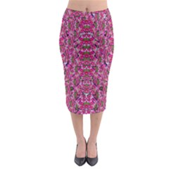 Fantasy Magnolia Tree In A Fantasy Landscape Midi Pencil Skirt by pepitasart