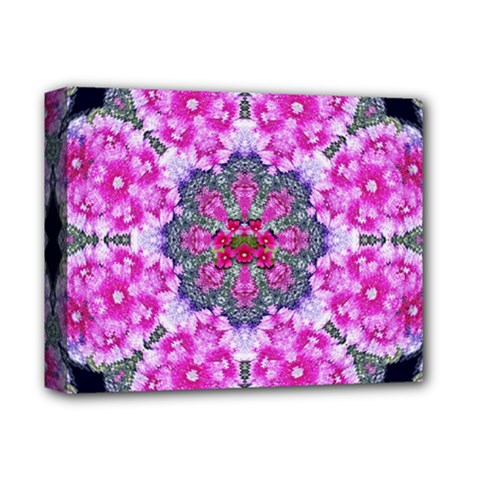Fantasy Cherry Flower Mandala Pop Art Deluxe Canvas 14  X 11  by pepitasart
