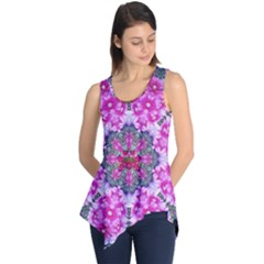 Fantasy Cherry Flower Mandala Pop Art Sleeveless Tunic
