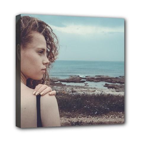 Girl & The Sea Mini Canvas 8  X 8  by amphoto