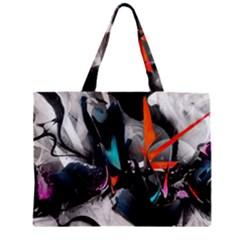 Lines Spray Brush Paint Color  Zipper Mini Tote Bag by amphoto