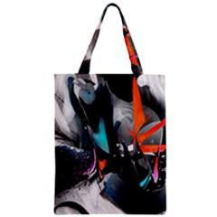 Lines Spray Brush Paint Color  Zipper Classic Tote Bag