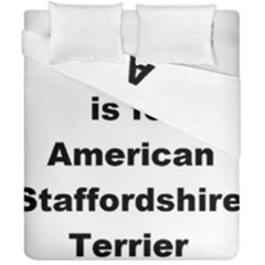 A Is For American Staffordshire Terrier Duvet Cover Double Side (california King Size)