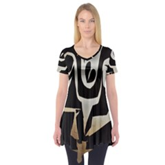 With Love Short Sleeve Tunic  by MRTACPANS