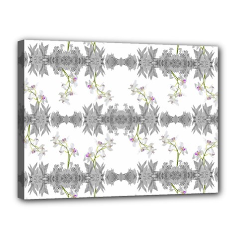Floral Collage Pattern Canvas 16  X 12  by dflcprints