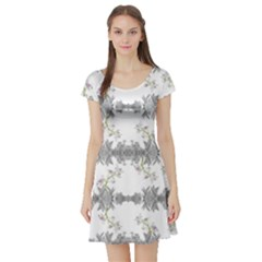 Floral Collage Pattern Short Sleeve Skater Dress by dflcprintsclothing