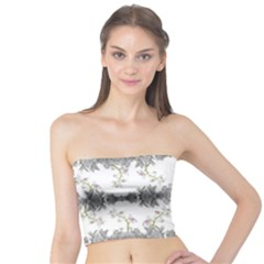 Floral Collage Pattern Tube Top by dflcprintsclothing