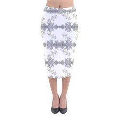 Floral Collage Pattern Velvet Midi Pencil Skirt by dflcprintsclothing