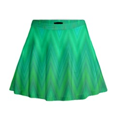 Zig Zag Chevron Classic Pattern Mini Flare Skirt