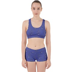 Owl Pattern Wallpaper Vector Work It Out Sports Bra Set