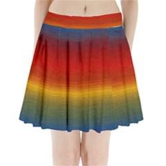 Ombre Pleated Mini Skirt by ValentinaDesign