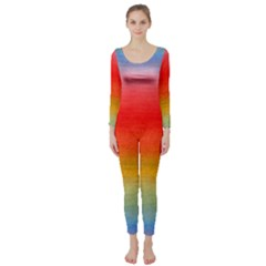 Ombre Long Sleeve Catsuit by ValentinaDesign