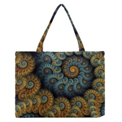 Spiral Background Patterns Lines Woven Rotation Zipper Medium Tote Bag by amphoto