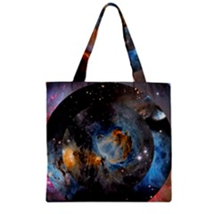 Abstract Abstract Space Resize Zipper Grocery Tote Bag by amphoto