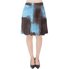 Ombre Velvet High Waist Skirt by ValentinaDesign