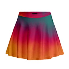 Ombre Mini Flare Skirt by ValentinaDesign
