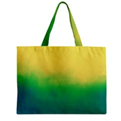 Ombre Zipper Mini Tote Bag by ValentinaDesign