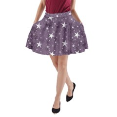 Star Texture Patterns  A Line Pocket Skirt by amphoto