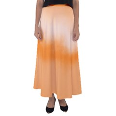 Ombre Flared Maxi Skirt