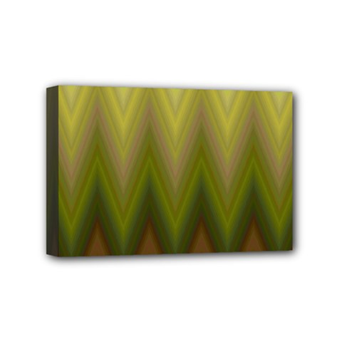 Zig Zag Chevron Classic Pattern Mini Canvas 6  X 4
