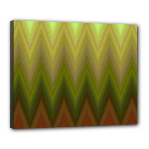 Zig Zag Chevron Classic Pattern Canvas 20  X 16