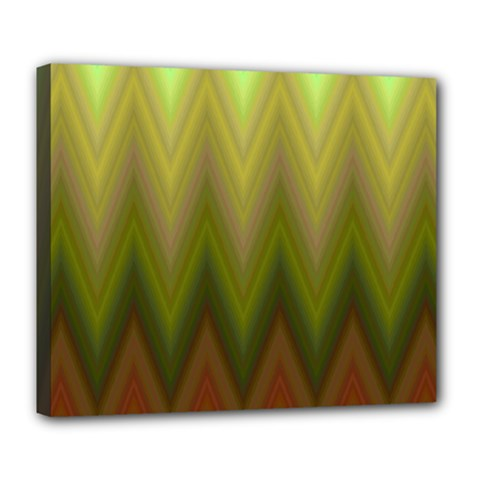 Zig Zag Chevron Classic Pattern Deluxe Canvas 24  X 20   by Nexatart