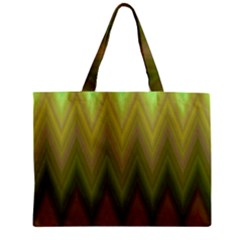 Zig Zag Chevron Classic Pattern Zipper Mini Tote Bag by Nexatart