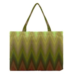 Zig Zag Chevron Classic Pattern Medium Tote Bag