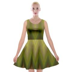 Zig Zag Chevron Classic Pattern Velvet Skater Dress