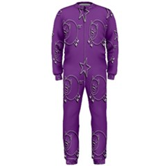 Pig Star Pattern Wallpaper Vector Onepiece Jumpsuit (men)