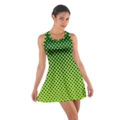 Halftone Circle Background Dot Cotton Racerback Dress