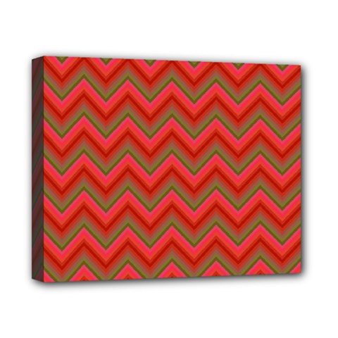 Background Retro Red Zigzag Canvas 10  X 8  by Nexatart