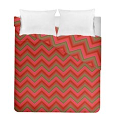 Background Retro Red Zigzag Duvet Cover Double Side (full/ Double Size) by Nexatart