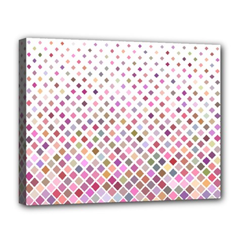 Pattern Square Background Diagonal Canvas 14  X 11