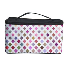 Pattern Square Background Diagonal Cosmetic Storage Case by Nexatart