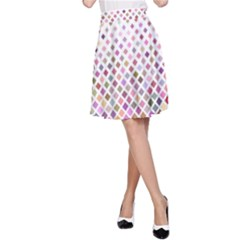 Pattern Square Background Diagonal A Line Skirt