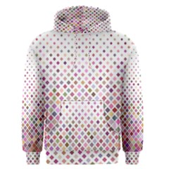 Pattern Square Background Diagonal Men s Pullover Hoodie