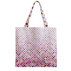 Pattern Square Background Diagonal Zipper Grocery Tote Bag by Nexatart