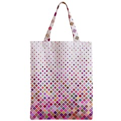 Pattern Square Background Diagonal Zipper Classic Tote Bag