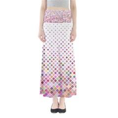 Pattern Square Background Diagonal Full Length Maxi Skirt