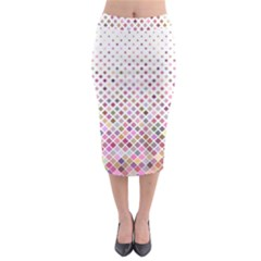 Pattern Square Background Diagonal Midi Pencil Skirt