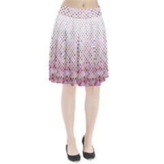 Pattern Square Background Diagonal Pleated Skirt