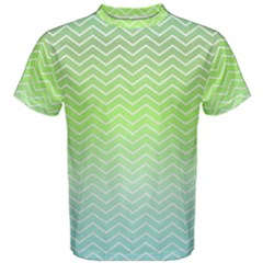 Green Line Zigzag Pattern Chevron Men s Cotton Tee